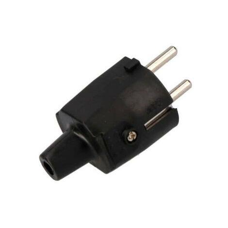 Prise de courant EDM - caoutchouc noir - 16A - IP44 - R42003