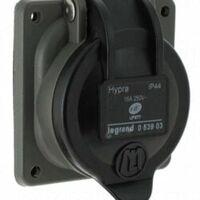 Prise de courant fixe Hypra 2P+T à brochage - 16A - 053903 - Legrand