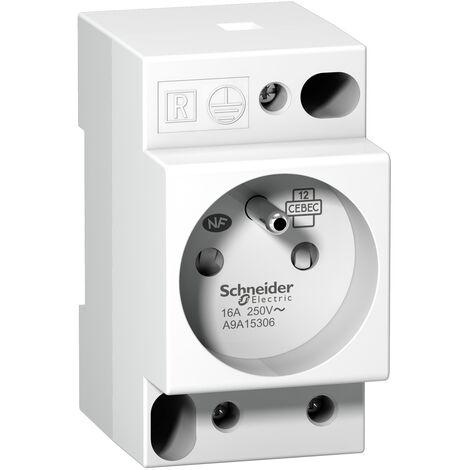 Prise de courant modulaire 16A 2P+T standard français 250V - A9A15306