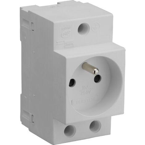 Prise de courant modulaire 2P+T 10/16A gris - Debflex