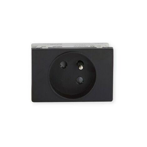 Prise de courant TerCia AP-C45 - Pour goulottes - 2P+T - 16A - Noir