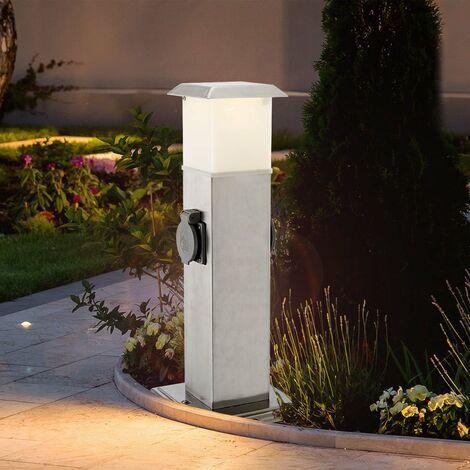 Prise de distribution avec lampe à LED 3 watts alimentation de jardin en acier inoxydable