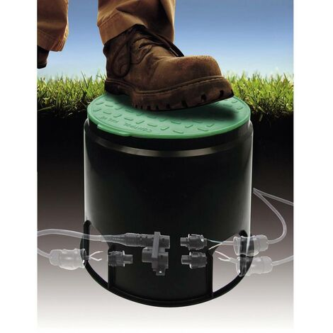 Prise de sol à encastrer Heitronic 21035 noir, vert