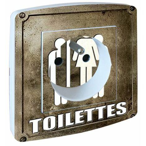 Prise Décorée marron taupe Toilettes