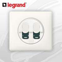 Prise Double RJ45 Cat 6 complete Legrand Celiane Blanc Glossy Yesterday