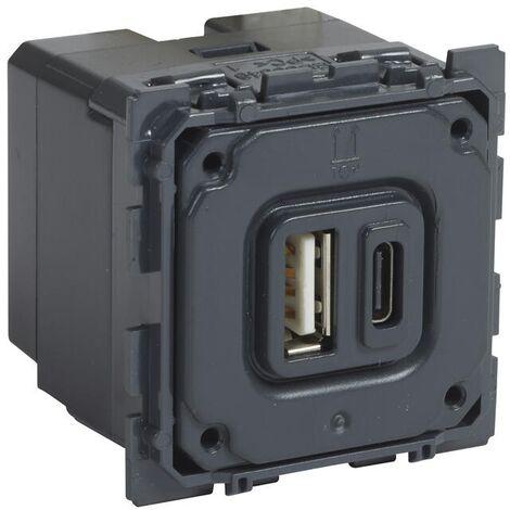 "main image of ""Prise double USB Céliane Type A + Type C 3000 mA"""