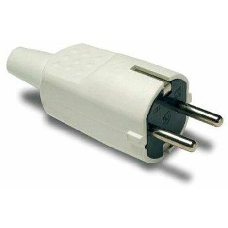Prise électrique 16A-250V Tt 4,8Mm/30X97X37 Pvc Blanc Famatel 1104-B