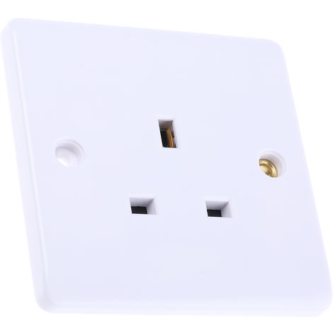 Prise électrique, IP20, Blanc série RS blanc, 13A, Montage encastré 1 modules 230V ac