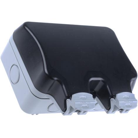 Prise électrique, IP66, Gris série Storm, 13A, Montage en saillie 230V ac