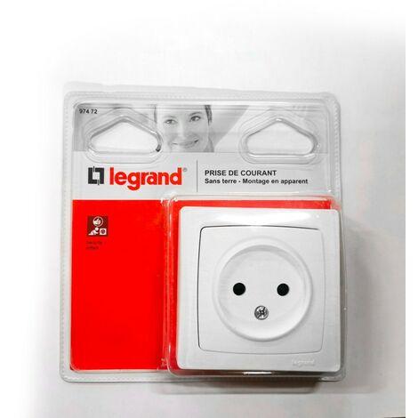 Prise électrique Legrand 97472 - Sans terre Blanc - Blanc