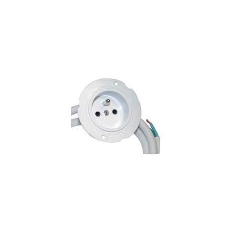 Prise extra plate - : - Indice de protection : IP23 - Décor : Blanc - Type d'éclairage : - - Matériau : Plastique - Alimentation : 220 V - Epaisseur : 38 mm - Longueur câble secteur : 1000 mm - Dia