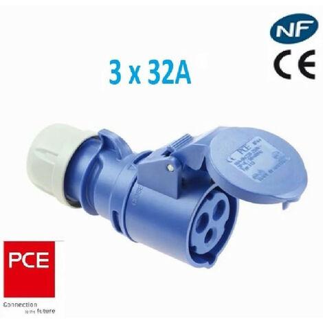 Prise femelle CEE monophasé 3 x 32A -IP 44 marque PCE