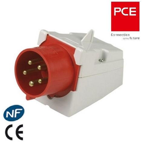 Prise Fiche socle mâle ou femelle CEE 5x32A - triphasé 5 Pôles IP 44 marque PCE
