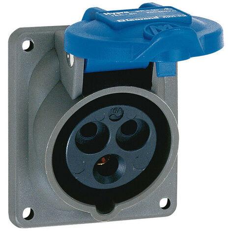 Prise fixe Hypra IP44 16A 200V~ à 250V~ 3P+N+T plastique (052024)