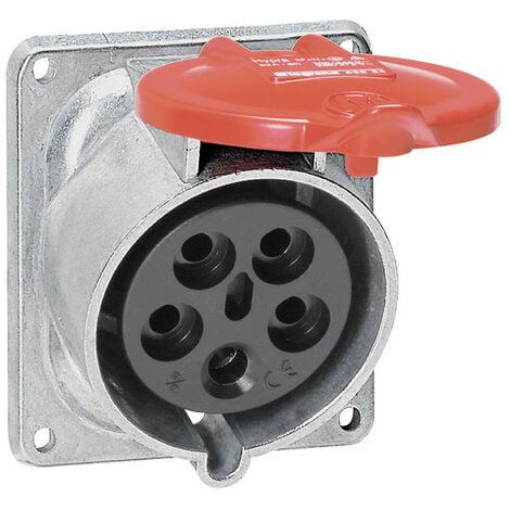 Prise fixe Hypra IP44 32A 380V~ à 415V~ 3P+N+T métal (052934)