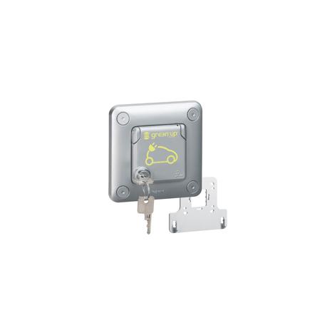Prise Green'up Access - 3,2 kVA-mode 2 - IP55-IK10 - encastré - volet verrouillé