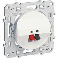 Prise haut-parleurs 1 sortie Blanc Schneider Electric Odace