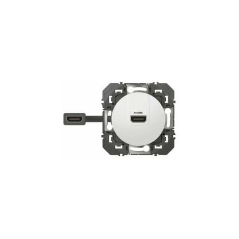"""main image of """"Prise HDMI 2.0 pré-connectorisée Dooxie LEGRAND - Blanc - 600385"""""""