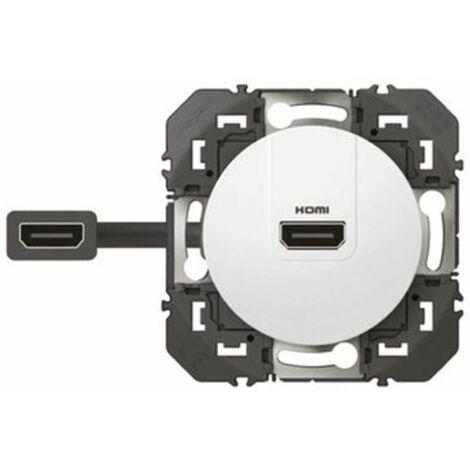 Prise HDMI 2.0 pré-connectorisée Dooxie LEGRAND - Blanc - 600385