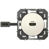 Prise HDMI pré connectorisée dooxie finition blanc (600385)