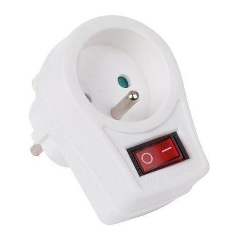 Prise intermédiaire avec interrupteur on/off - 1 prise
