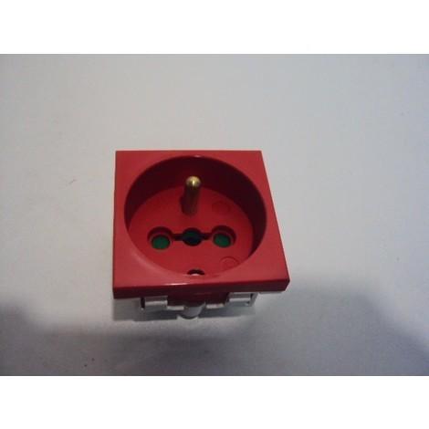 Prise modulaire 16A 2p+t à détrompage type 45 connectique arriere L'EBENOID 011503