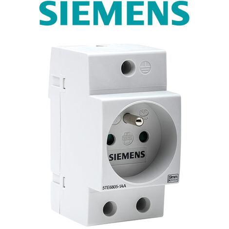 Prise modulaire 2P + T pour tableau électrique avec obturateur - SIEMENS