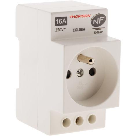 Prise modulaire NF 16A 2P+T Thomson - simple ou double