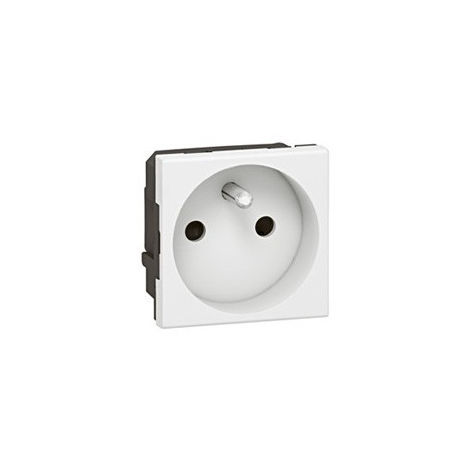 Prise Mosaic 2P+T - 2 modules - Bornes automatiques - Blanc - Legrand