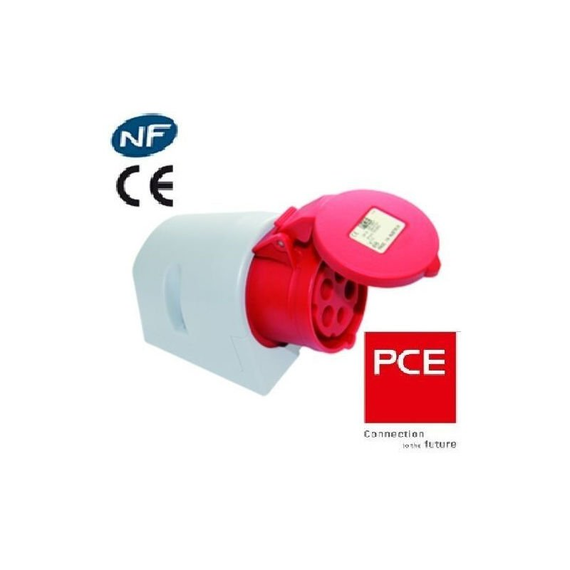 PCE SHARK IP44 CEE 16 A 5p Rouge Lot de 5 connecteurs et connecteurs 5 broches