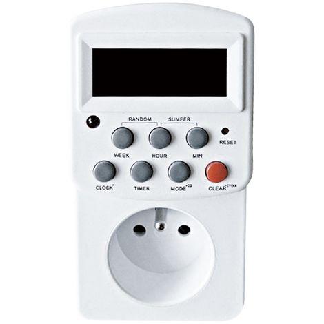 Prise programmable électronique hebdomadaire, ElektroProg indoor blanc, ElektroProg indoor blanc