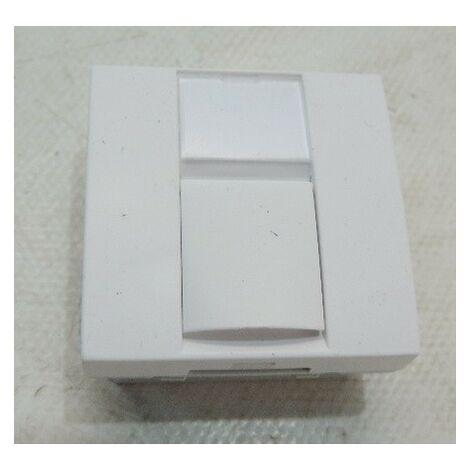 Prise réseau RJ45 CAT6 STP blindée blanche format 45X45mm S-one Altira SCHNEIDER ELECTRIC ALB44346N