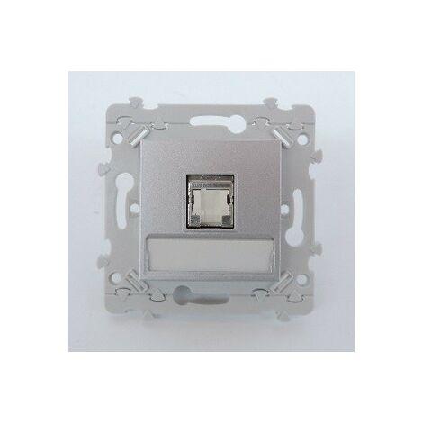 """main image of """"Prise réseau RJ45 cat6 STP grade 3 blanche avec support sans plaque Essensya HAGER WE226"""""""