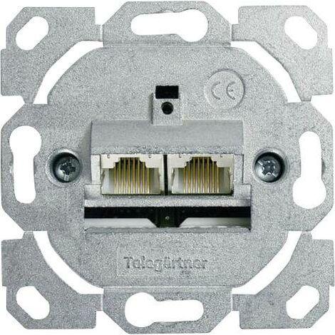 Prise réseau Telegärtner J00020A0395 Type de montage:encastré, goulotte insert CAT 6a 1 pc(s) S377651