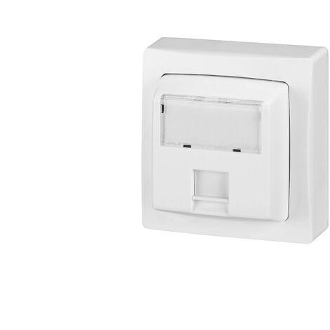 Prise RJ45 - Catégorie 6 FTP - 9 contacts saillie complet - Blanc - Legrand
