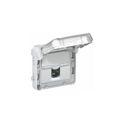 Prise RJ45 Catégorie 6 FTP - Plexo composable - IP55 - Gris - Legrand