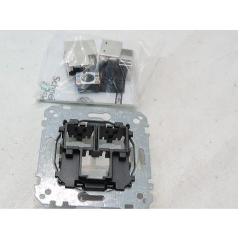 Prise RJ45 double CAT6 FTP communication (mécanisme seul) MERTEN SCHNEIDER MTN465806