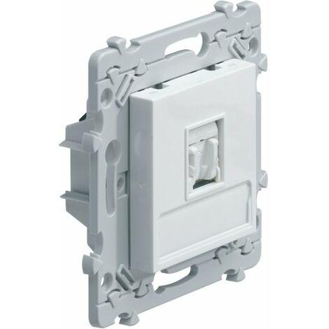 Prise RJ45 Essensya - Catégorie 5E - FTP - Pour grade 1 - Blanc - Hager