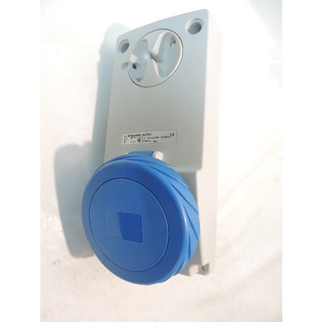 Prise socle 32A 3P+N+T 200-250V CA verrouillable capot bleu étanche IP65 pose sur panneau UNIKA SCHNEIDER ELECTRIC 82094