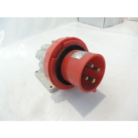 Prise socle 3P+T 32A 400V mâle connecteur saillie 90° 6h IP67 GEWISS GW60441