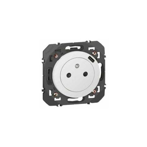 "main image of ""Prise surface + chargeur USB-C intégré - Dooxie - Blanc - 600341 - Legrand"""