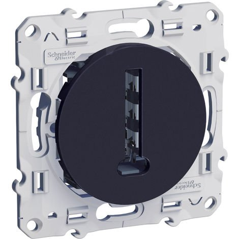 """main image of """"PRISE TÉLÉPHONE 8 CONTACTS ODACE Anthracite - SCHNEIDER"""""""