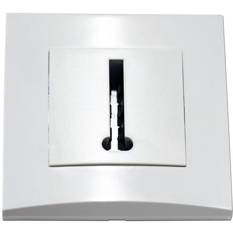 """main image of """"Prise téléphone blanche conjoncteur 8 plots en T encastrée fixation vis complete avec plaque ALTERNATIVE ELEC AE52010-P"""""""