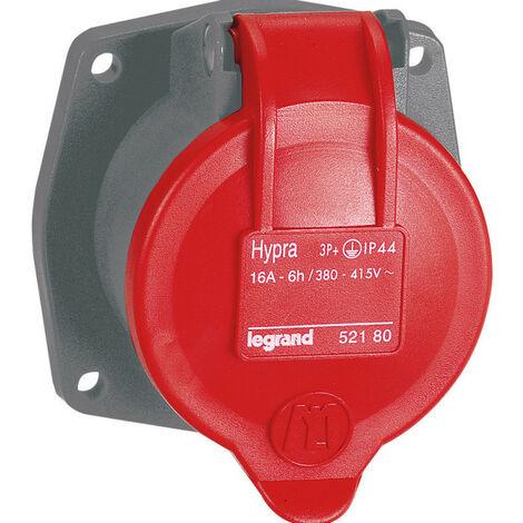 Prise transfert direct Hypra 16A pour remplacement Martin Lunel 10A 3P+T 380V~ à 415V~ plastique (052180)