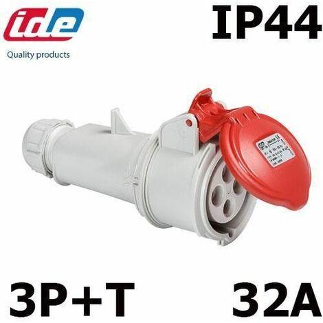 Prise triphasée femelle 32A IP44