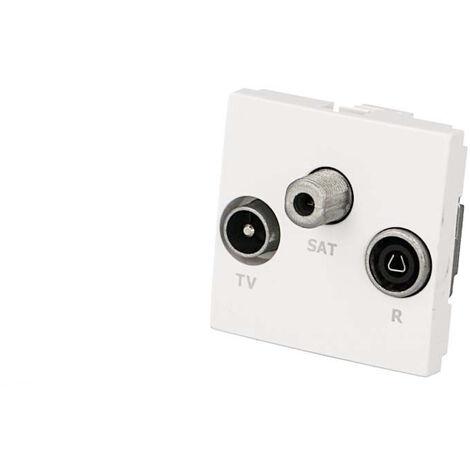 Prise TV + FM + SAT Efapel 45x45