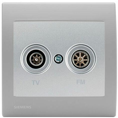 Prise TV/FM Silver Delta Iris + Plaque basic Silver - SIEMENS