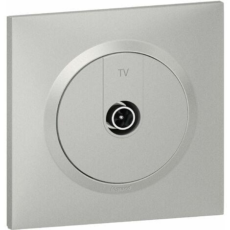 Prise TV - mâle 9, 52mm blindée+AX100 - Dooxie Complet - Aluminium - Legrand
