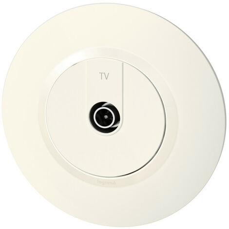 Prise TV mâle 9, 52mm blindée - Dooxie - Complet - Blanc - Legrand