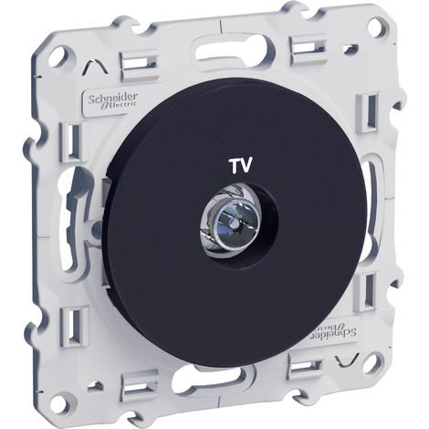 """main image of """"Prise TV Odace - Anthracite"""""""